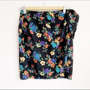 1990s high waist wrap around side tie mini skirt